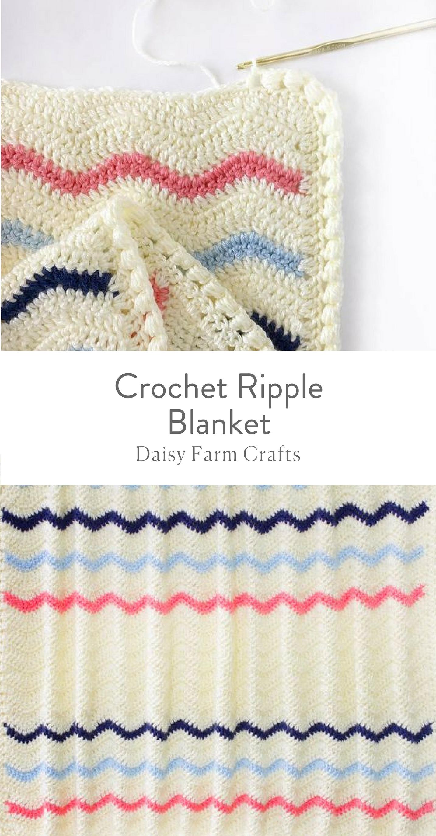 Free Pattern - Crochet Ripple Blanket   Crochet   Pinterest ...