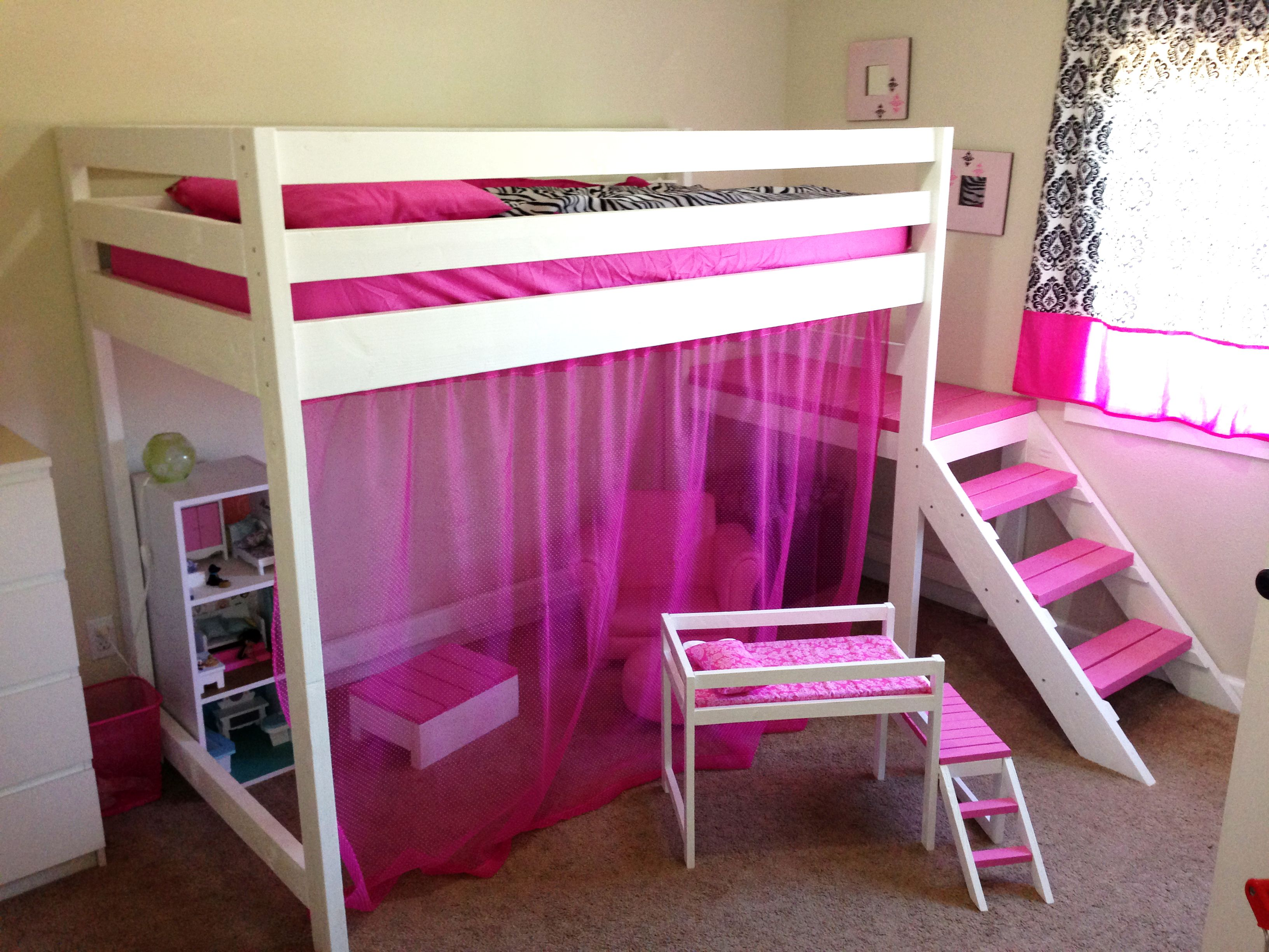 Camp Loft Bed with Matching Doll Sized Loft Bed Do It