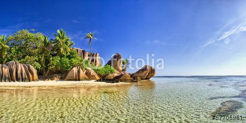 Photo: Beautiful beach in Seychell island