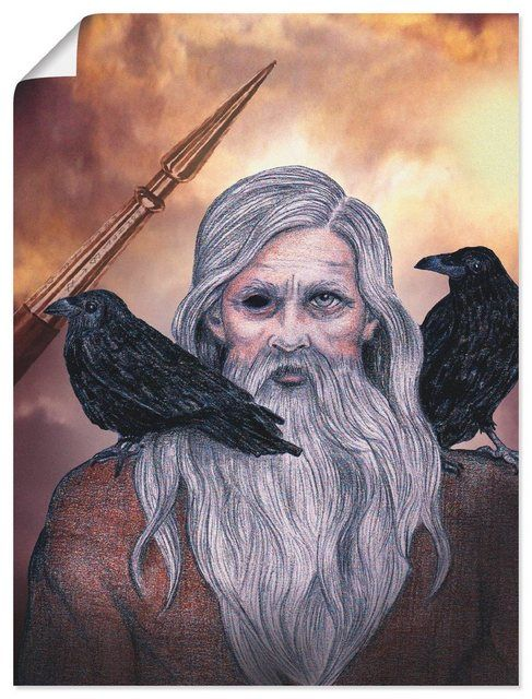 Photo of Artland Leinwandbild »Claudia Engelen: Odin« | OTTO