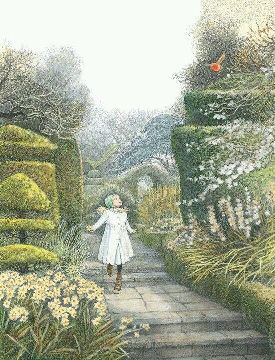 Books   The Secret Garden illustration by Inga Moore