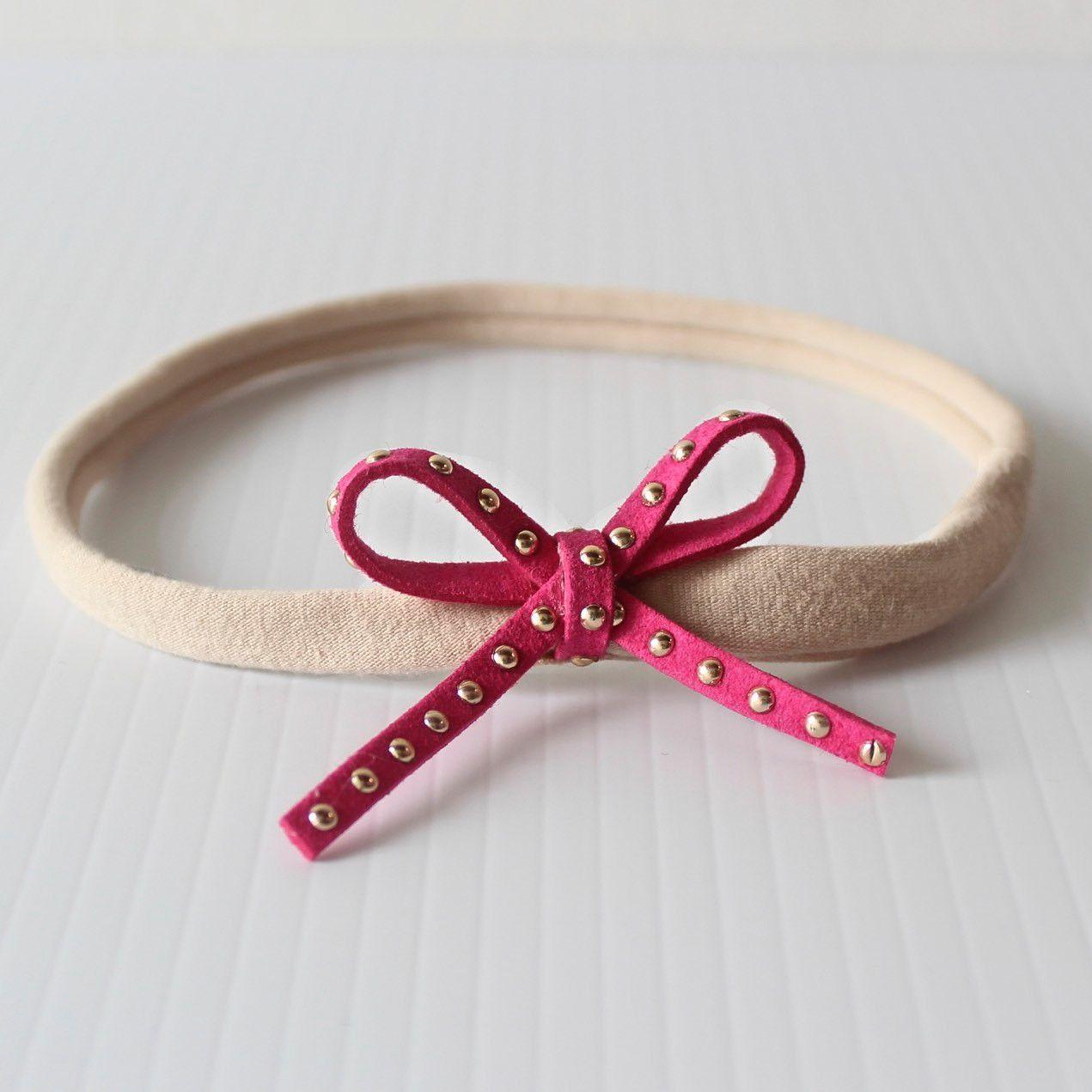 Wild Fuchsia Bow Headband