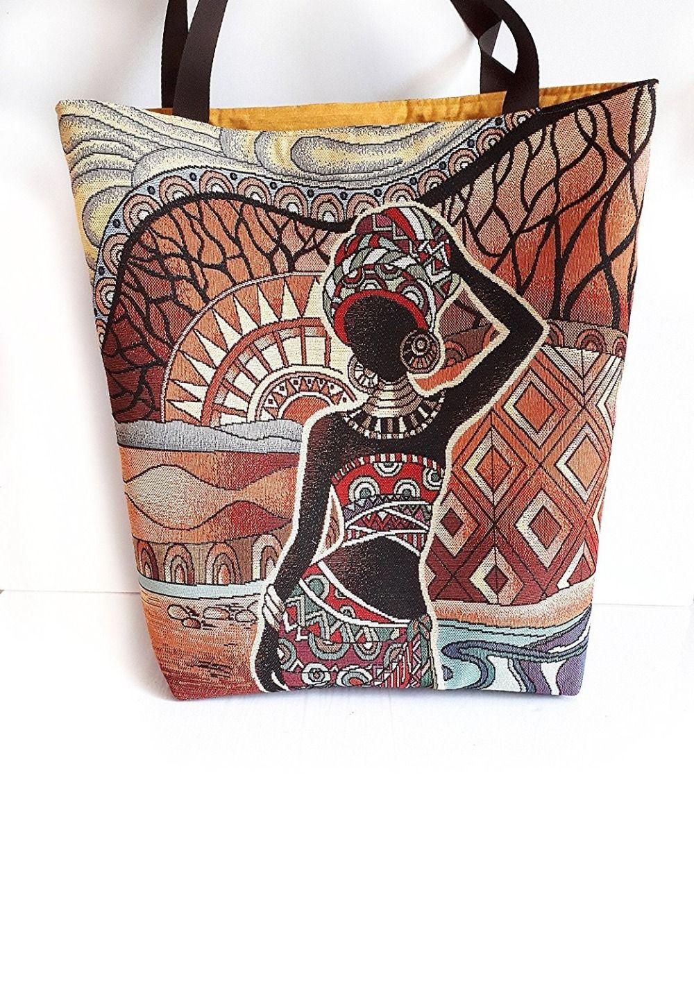 4857ebfb1e Sac à main porté épaule ethnique sac cabas femme africain sac suédine et  tissu marron femme