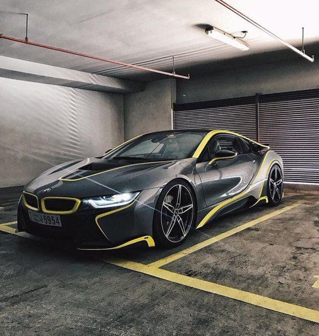Custom Stealth Black And Yellow Bmw I8 Dream Cars Pinterest