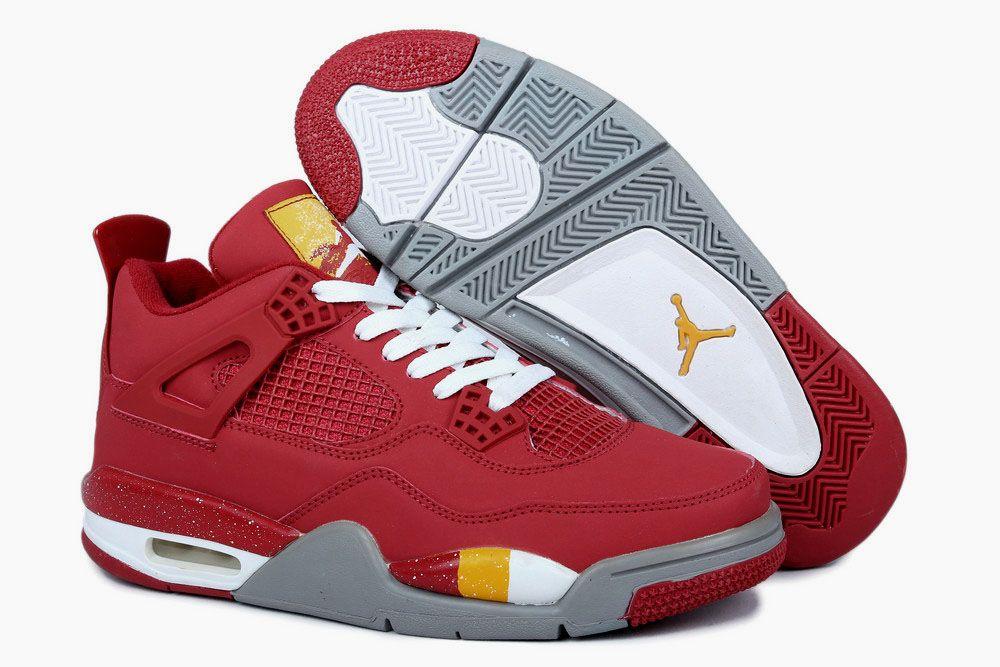 Buy Nike Air Jordan 4 Mens King Collect Edition Red Grey Shoes New from  Reliable Nike Air Jordan 4 Mens King Collect Edition Red Grey Shoes New  suppliers.