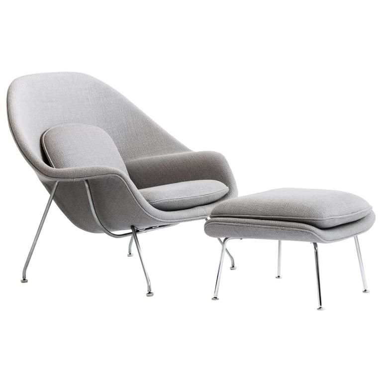 Eero Saarinen Womb Chair and Ottoman | Womb chair, Modern lounge and ...