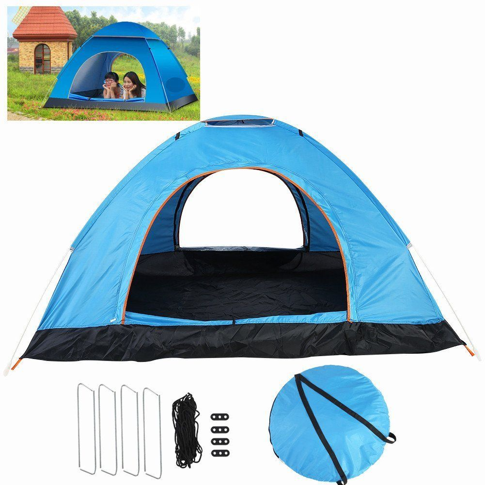 3-4 Person C&ing Tent Backpacking Tents Waterproof Lightweight Family C&ing Tents Portable Folding Tent  sc 1 st  Pinterest & 3-4 Person Camping Tent Backpacking Tents Waterproof Lightweight ...