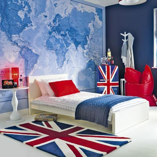 Habitaciones infantiles decoradas en azul chambre lorenzo recamara dormitorio adolescente y - Decoracion habitacion juvenil masculina ...