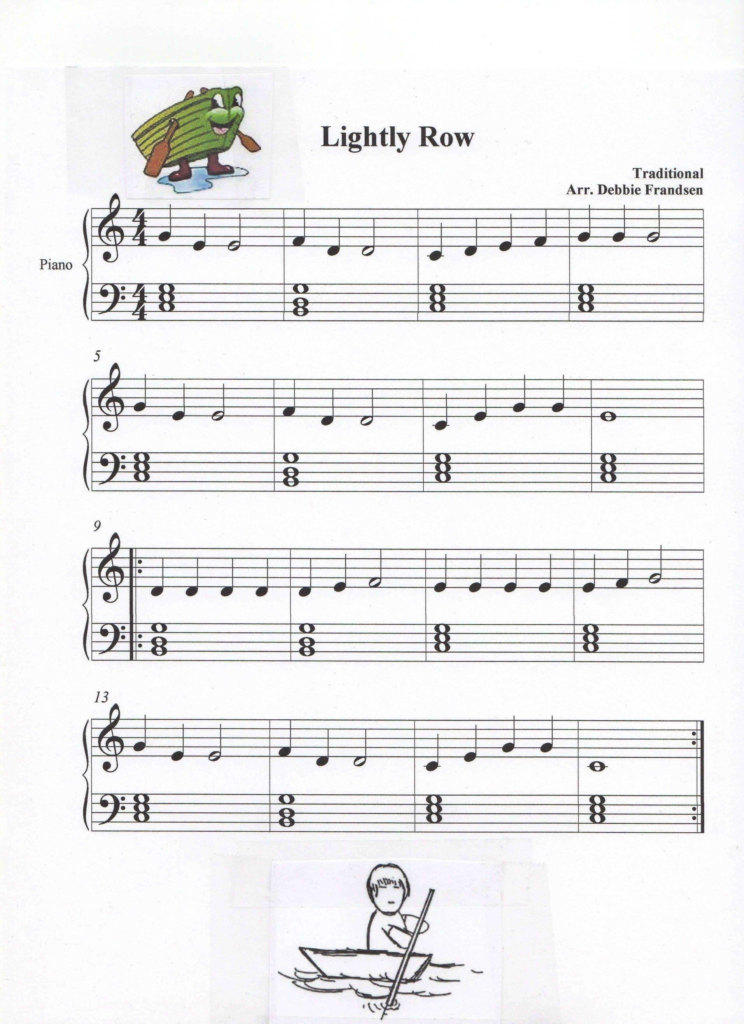 Lightly Row With Basic Block Chords For Let S Play Music And Piano