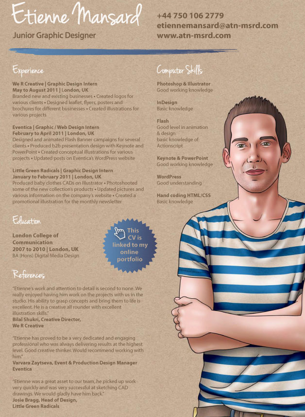 junior graphic designer  cv and i love this
