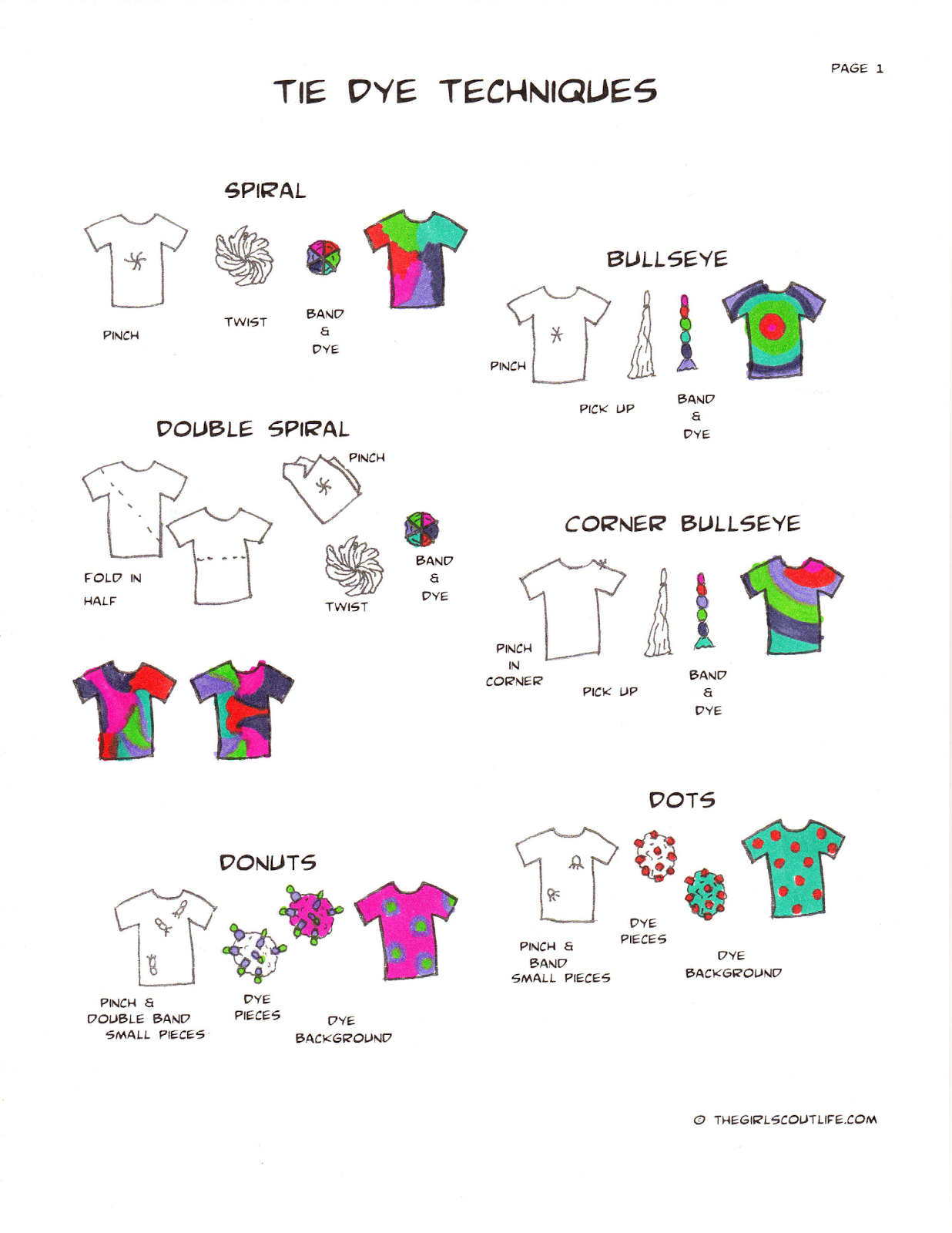 The Girl Scout Life Crafting Tie Dye