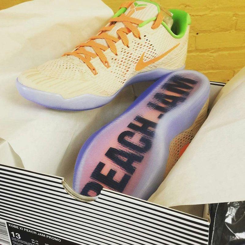 reputable site 09781 3e872 ... First Look At The Nike Kobe 11 Peach Jam ...
