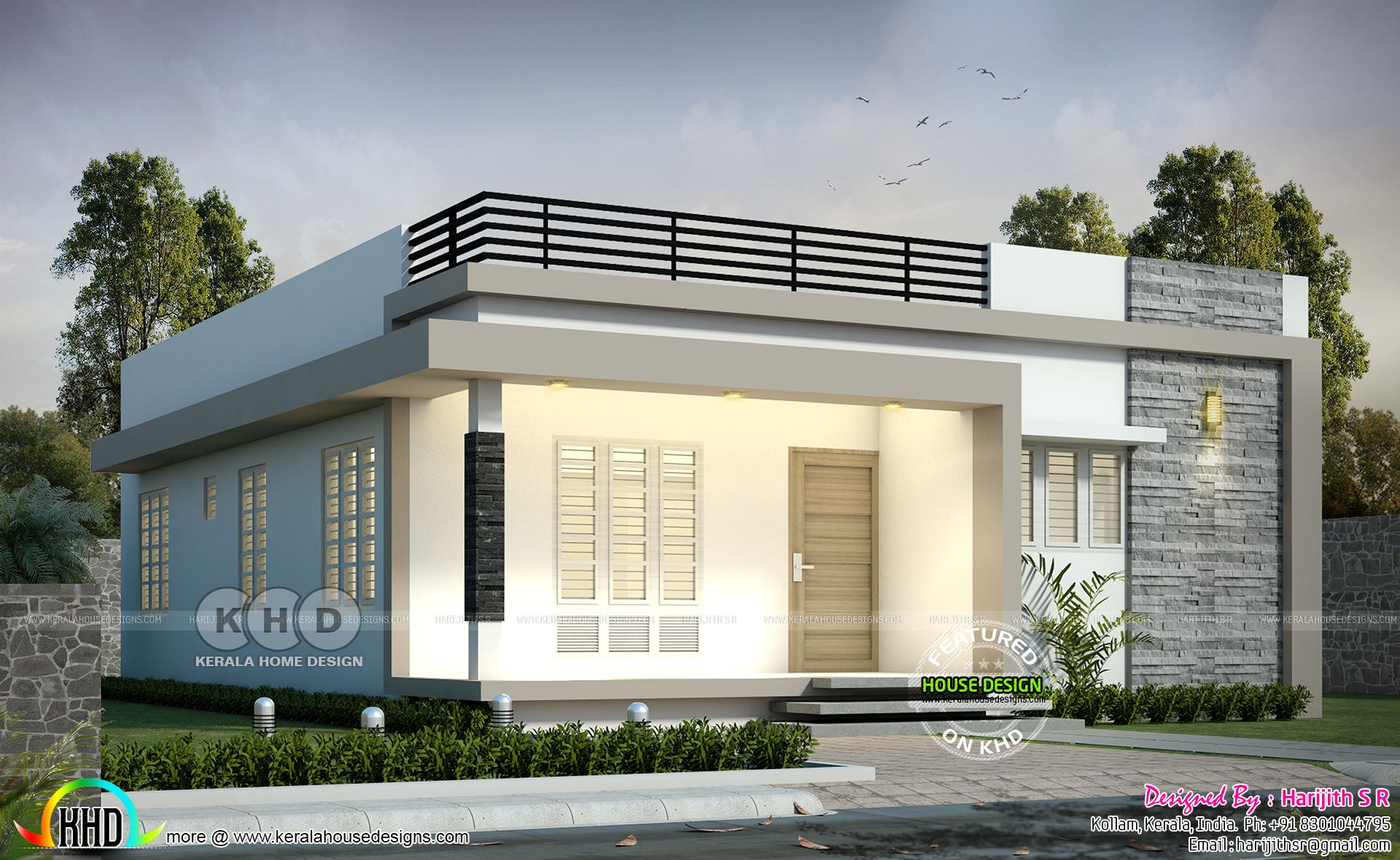 1144 Sq Ft 2 Bhk Single Floor House Plan House Front Design