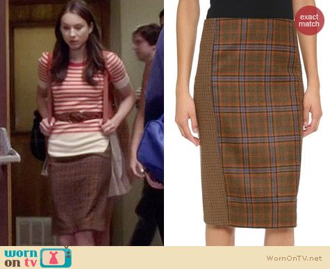Spencer's checked skirt on Pretty Little Liars.  Outfit Details: http://wornontv.net/34034/ #PLL