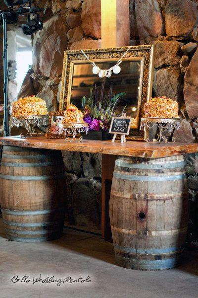 Whiskey Barrels Wedding Decor Whiskey Barrels Wedding