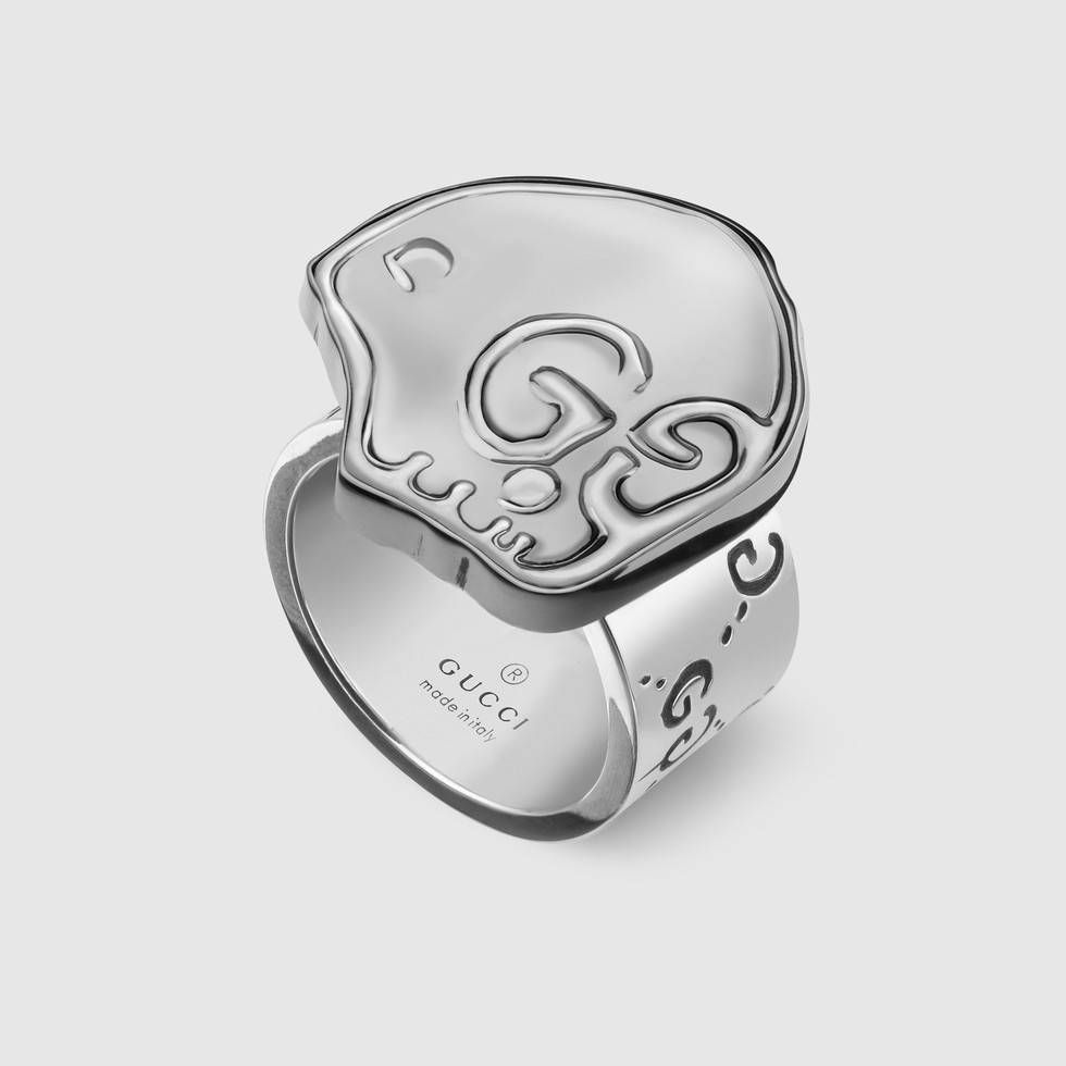 40adddfd87015 GucciGhost ring in silver
