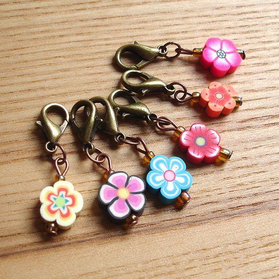 Snag Free FIMO Flower Crochet Stitch Marker Set by sweetpyroangel ...