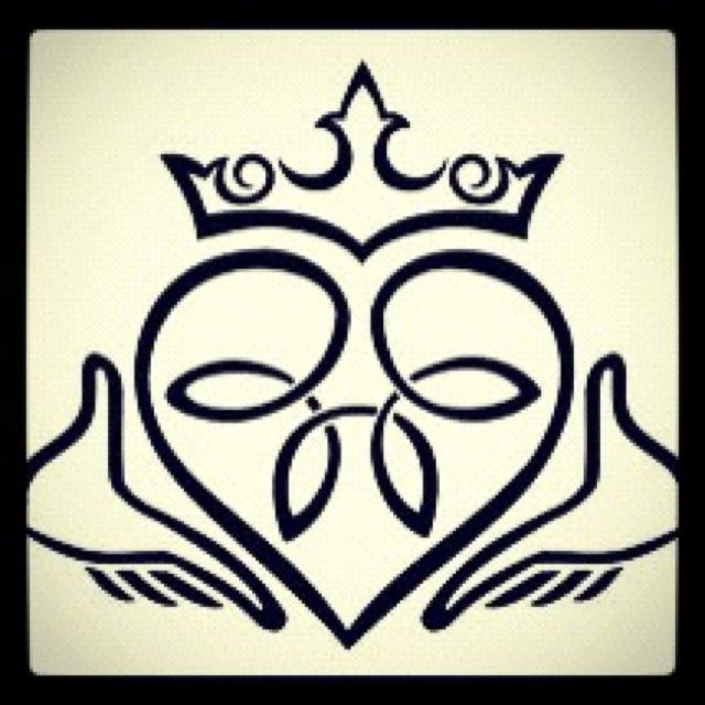 Claddagh TattooThe heart represents timeless love, the crown represents loyalty and fidelity, and the hands represent friendship.