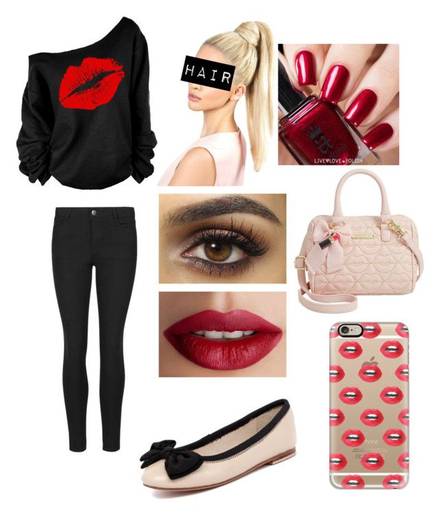"""Lip outfit"" by kyky204 ❤ liked on Polyvore featuring Indigo Collection, Human Premium, TheBalm, Perceval, Betsey Johnson and Casetify"