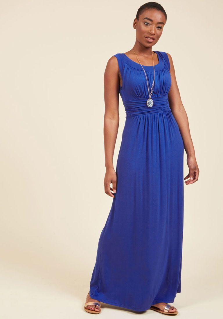 Blue cobalt maxi dresses photos