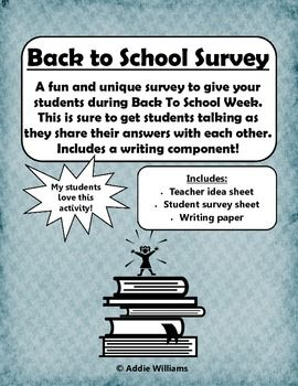 HereS A Fun And Free Student Survey To Give Students During Back