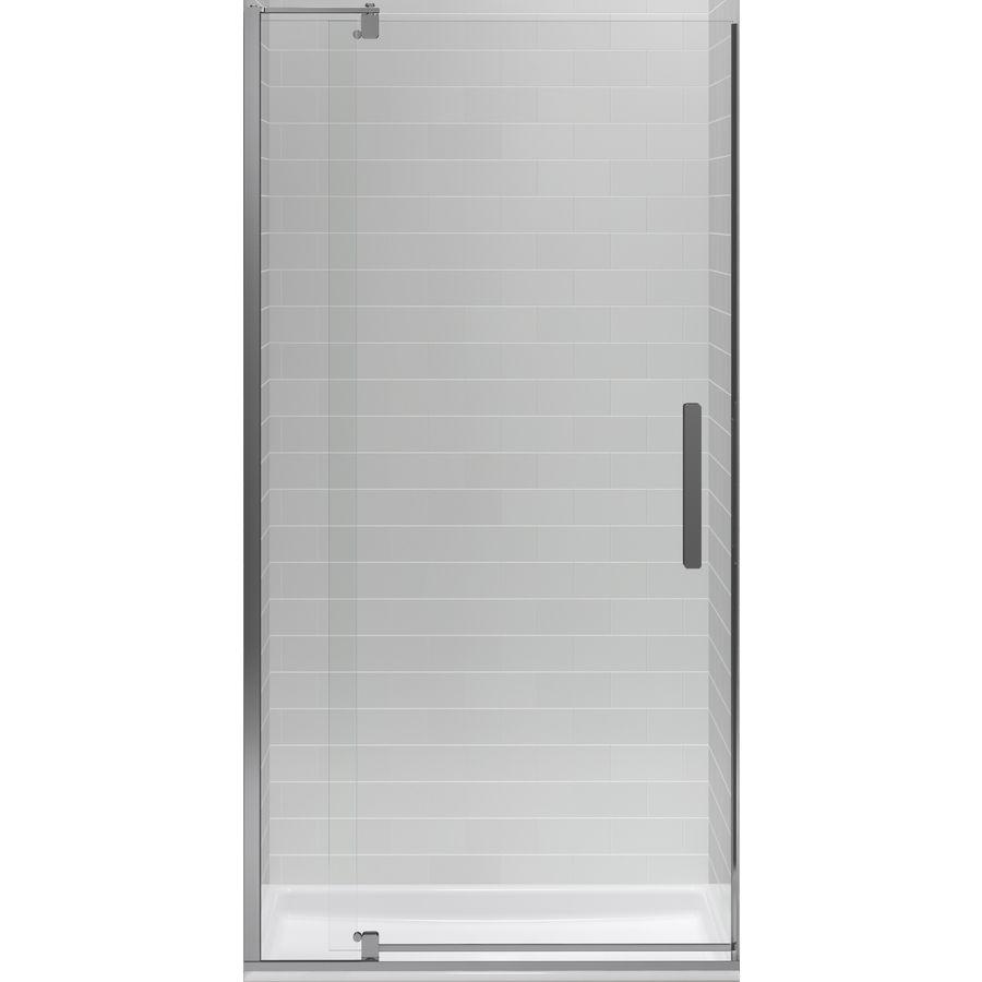 Kohler Revel 31125 In To 36 In Silver Frameless Pivot Shower Door
