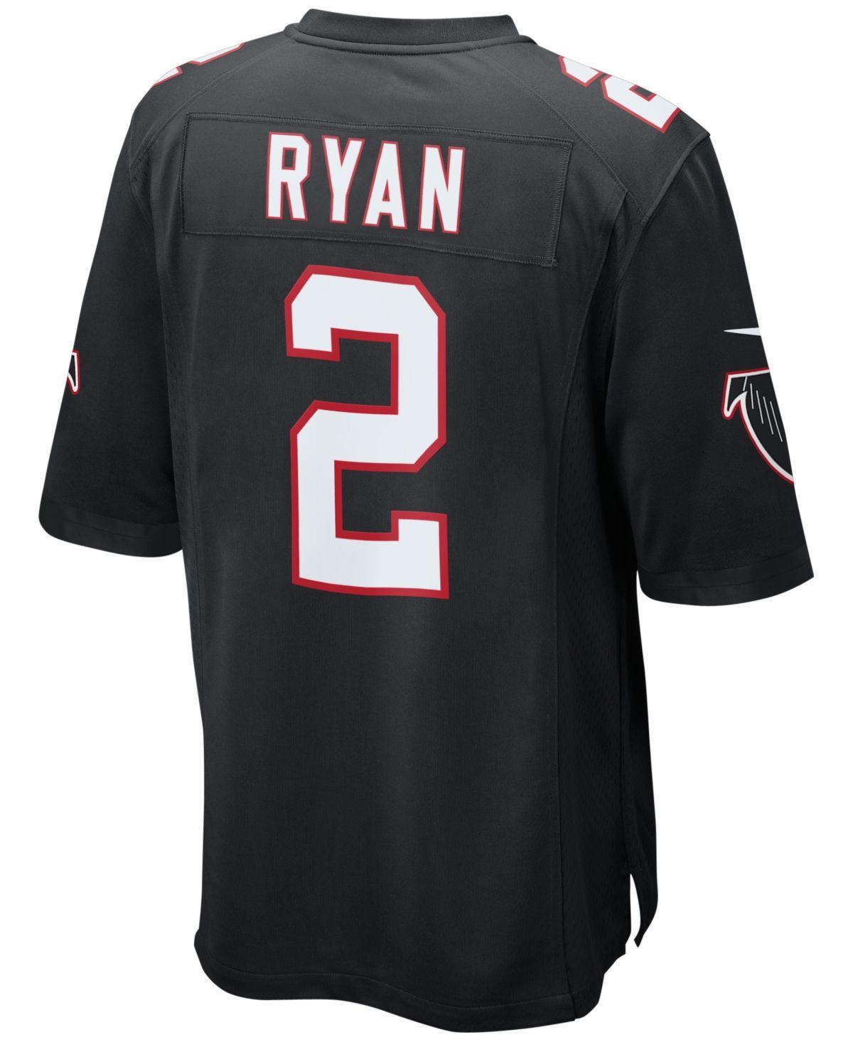Nike Men S Matt Ryan Atlanta Falcons Game Jersey Black Atlanta Falcons Game Nike Men Atlanta Falcons