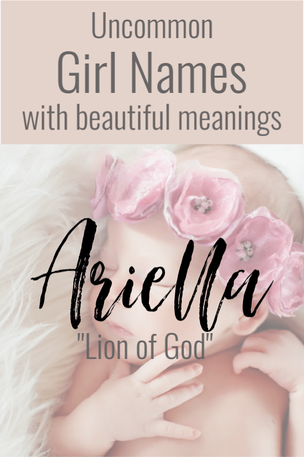 baby names #baby Uncommon girl names that have a beautiful meaning to match your beautiful baby girl. These unique baby names are perfect for your next baby. Especially if you want their beauty to stand out from the rest. #babygrilnames #uncommonbabynames via pinterest.com/alifeinlabor