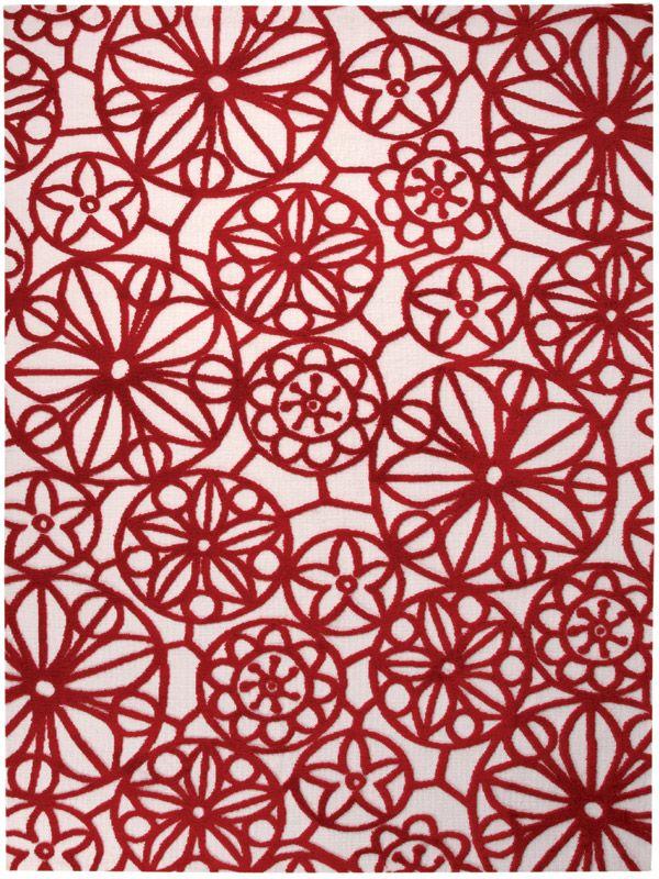 rug red accent? Designer Teppich Esprit Society Circle