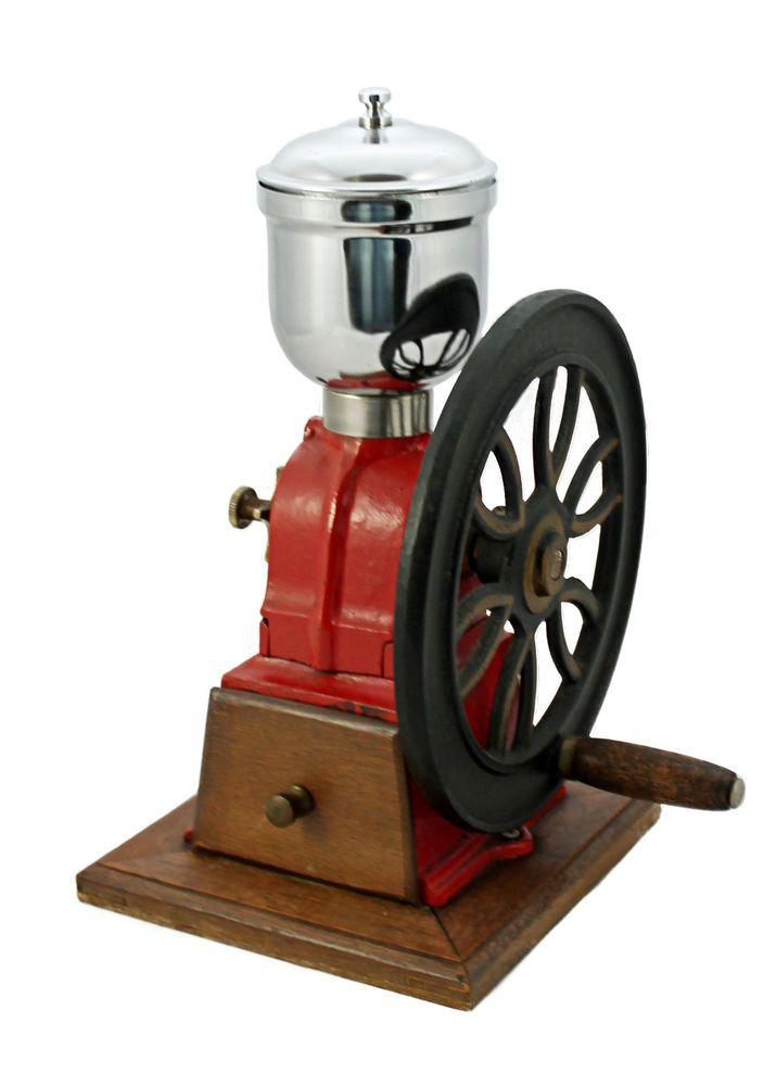 Vintage Blue Metal Elma Coffee Grinder ~ Coffee Mill