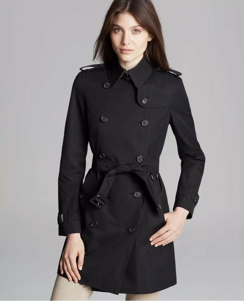 Burberry Brit Womens Trench Coat Size Us 4 Black Cotton Novacheck Interior Uk 6 Fashion Clothing Shoes Acces Trench Coats Women Trench Coat Burberry London