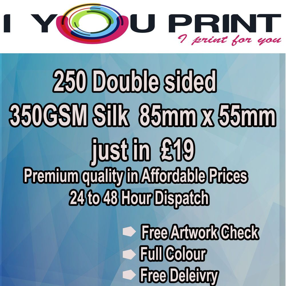 250 Double sided,350GSM Business Cards, 12 to 24 hour dispatch ...