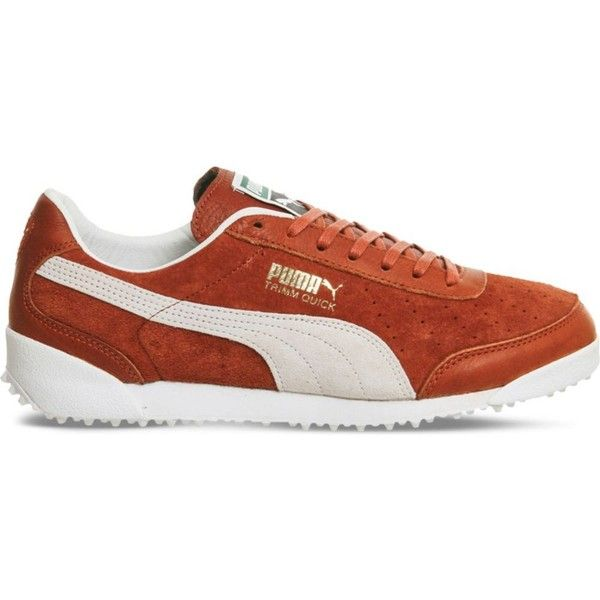 20d83c310eb Puma Trimm Quick suede and leather trainers (£62) ❤ liked on Polyvore  featuring shoes