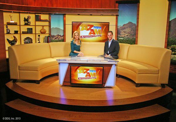 KSAZ-TV, FOX 10, Morning Show Set. Design By Devlin Design