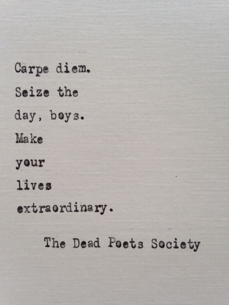 Society Quotes Dead Poets Society Quote Hand Typed On Antique Typewriter .