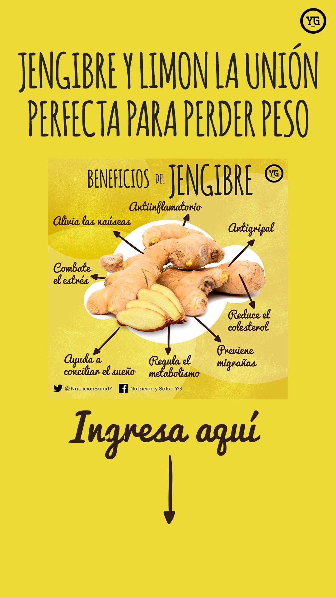Jengibre Y Limon La Union Perfecta Para Perder Peso Con Imagenes