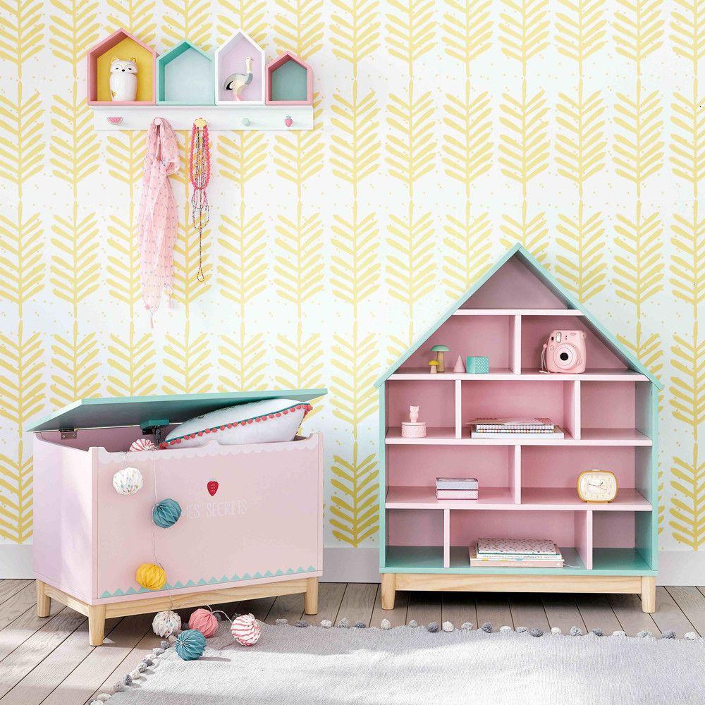 bcherregal haus fr kinder grn und rosa - Bcherregal Ideen Fr Kinder