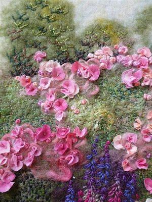 MarmaladeRose: The Garden Wall. Embellished Felt.