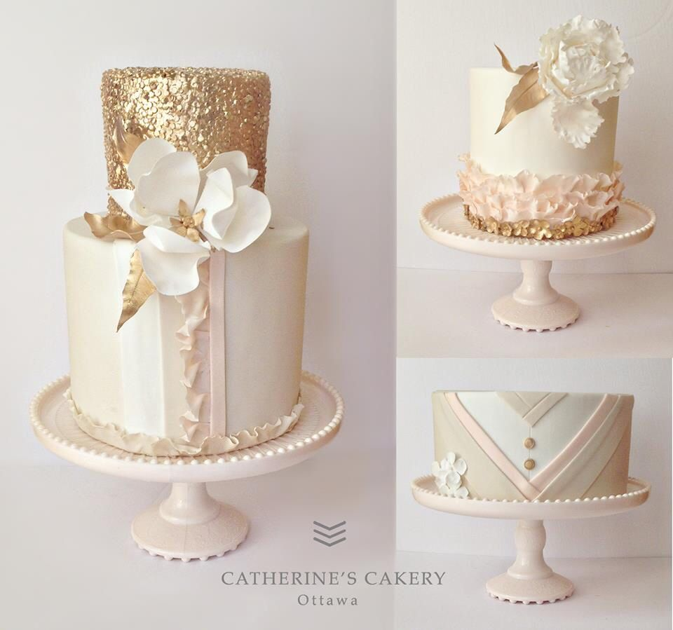 Blush and gold | עוגות יום הולדת | Pinterest | Beautiful cakes and Cake