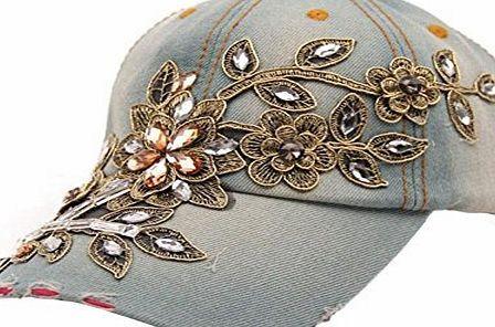 Clode® 1PC New Vogue Women Diamond Flower Baseball Cap Summer Style Lady Jeans Hats (E) No description (Barcode EAN = 0647341859685). http://www.comparestoreprices.co.uk/december-2016-week-1/clode®-1pc-new-vogue-women-diamond-flower-baseball-cap-summer-style-lady-jeans-hats-e-.asp