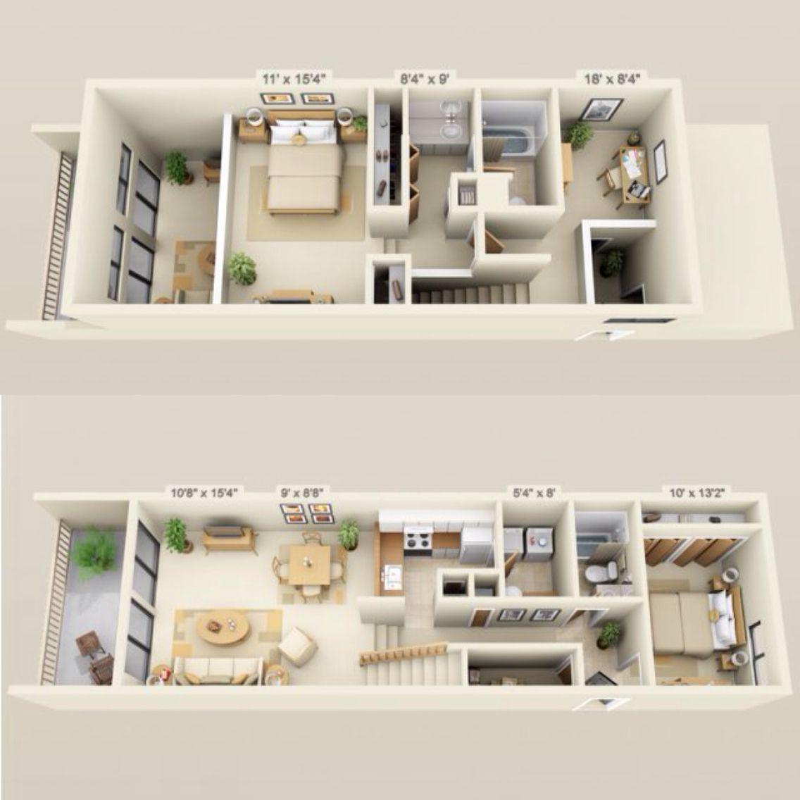 920 935 Rent 200 Dep 2 Beds 2 Baths 1285 Sq Feet Small House Design Apartment Floor Plans House Plans