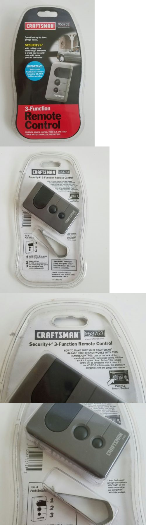 Garage Door Opener Remote Antenna For Remotes 85899 Sears Craftsman Control Black Buttons 53753 New