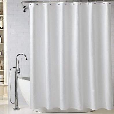 Wamsutta Reg Diamond Matelasse 72 Inch X 96 Inch Extra Long Shower Curtain In White Chevron Shower Curtain Elegant Shower Curtains Long Shower Curtains
