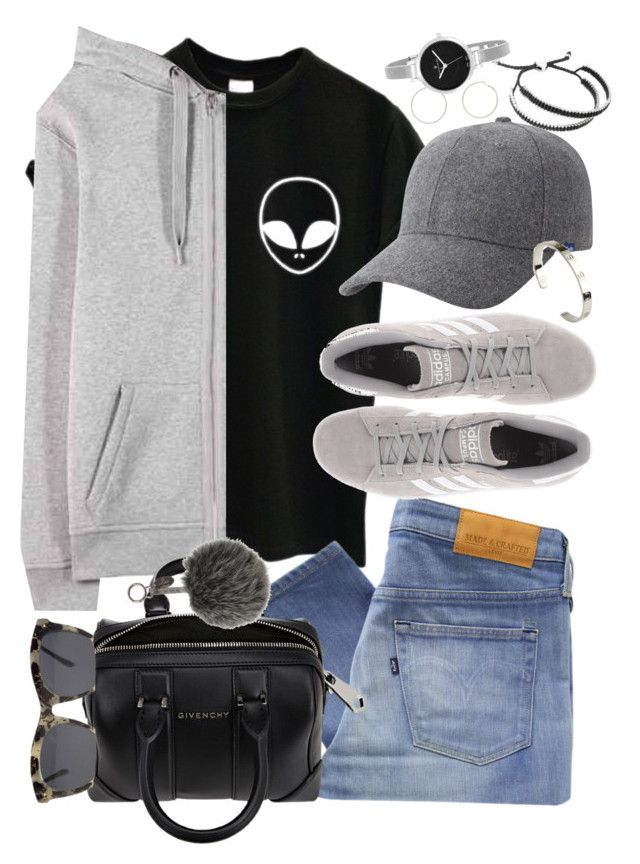 """""""Untitled #3389"""" by hellomissapple ❤ liked on Polyvore featuring Forever 21, T By Alexander Wang, adidas Originals, Levi's Made & Crafted, Givenchy, Fendi, Keds, Cartier, Links of London and Christian Van Sant"""