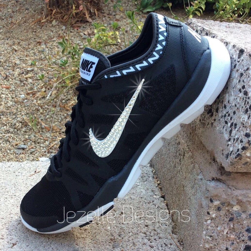 Glitter Nike Shoes - Women s Nike Flex Supreme TR3 w  Swarovski Crystals 6e11196e6652