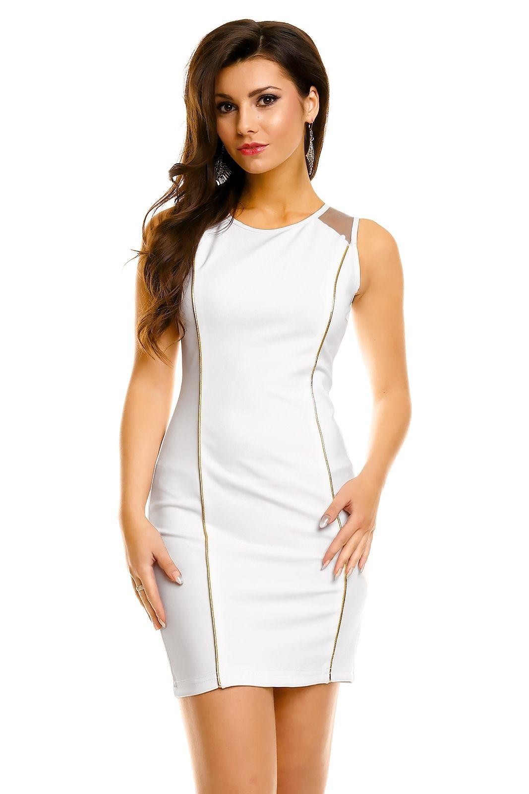 4ea89bf8250 Robe de soirée robe de cocktail chic blanche robe courte blanche TM-K653 -  Toufamode