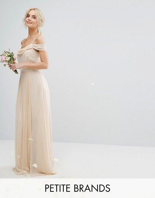 TFNC Petite Wedding Cold Shoulder Embellished Maxi… | Bridesmaids ...