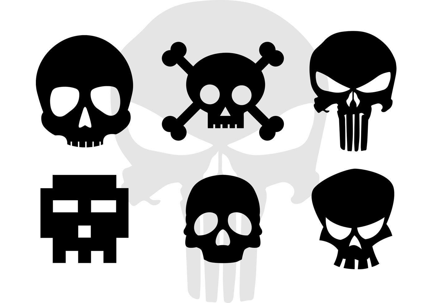 Skull Vector Cartoonish Skull Silhouettes Simple Skull Skull Silhouette Skulls Drawing