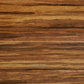 tecsun 4.93-in W x 4-ft L Espresso Strand High-Gloss Laminate Wood Planks
