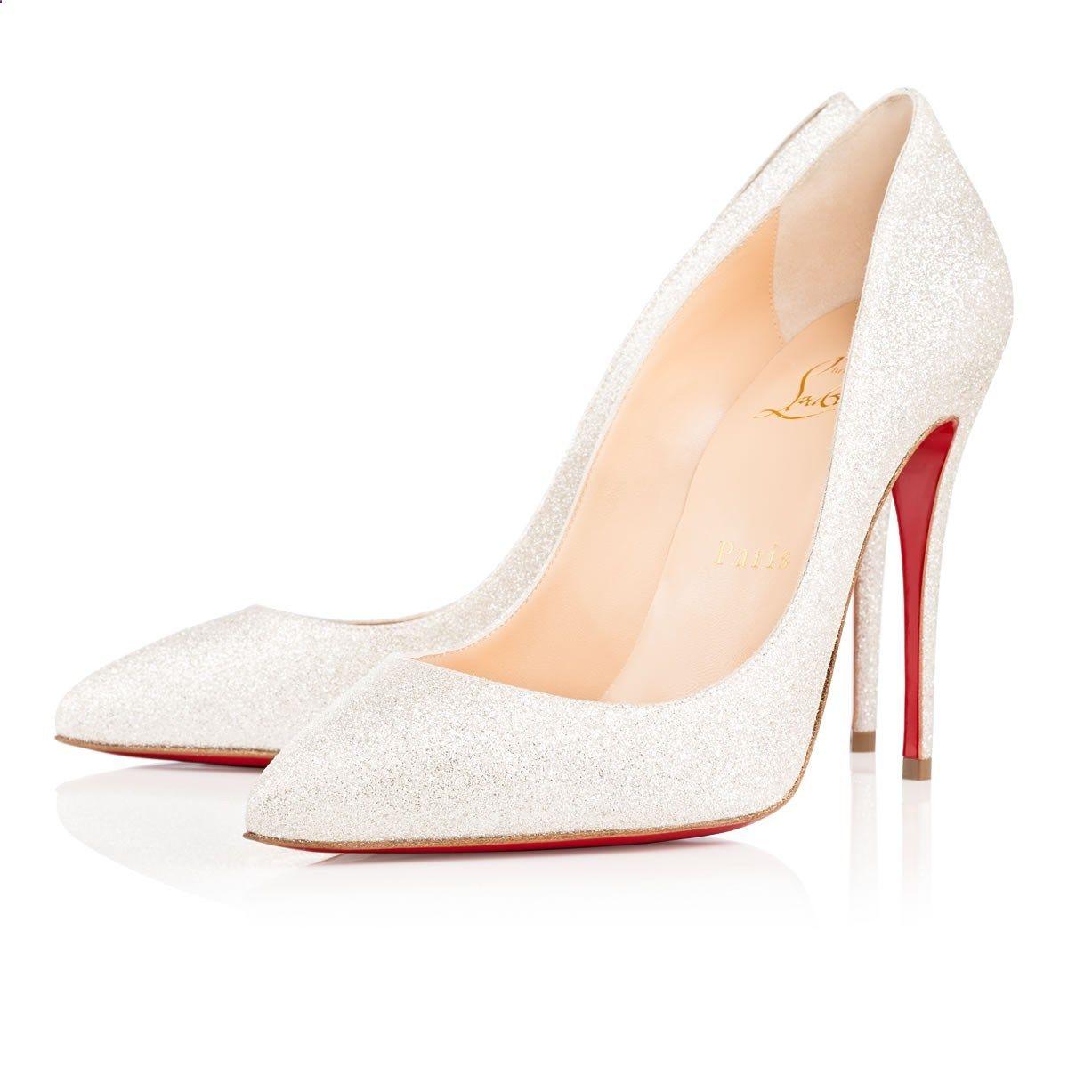 ff6860481252 Pigalle Follies 100 Ivory Glitter - Women Shoes - Christian Louboutin